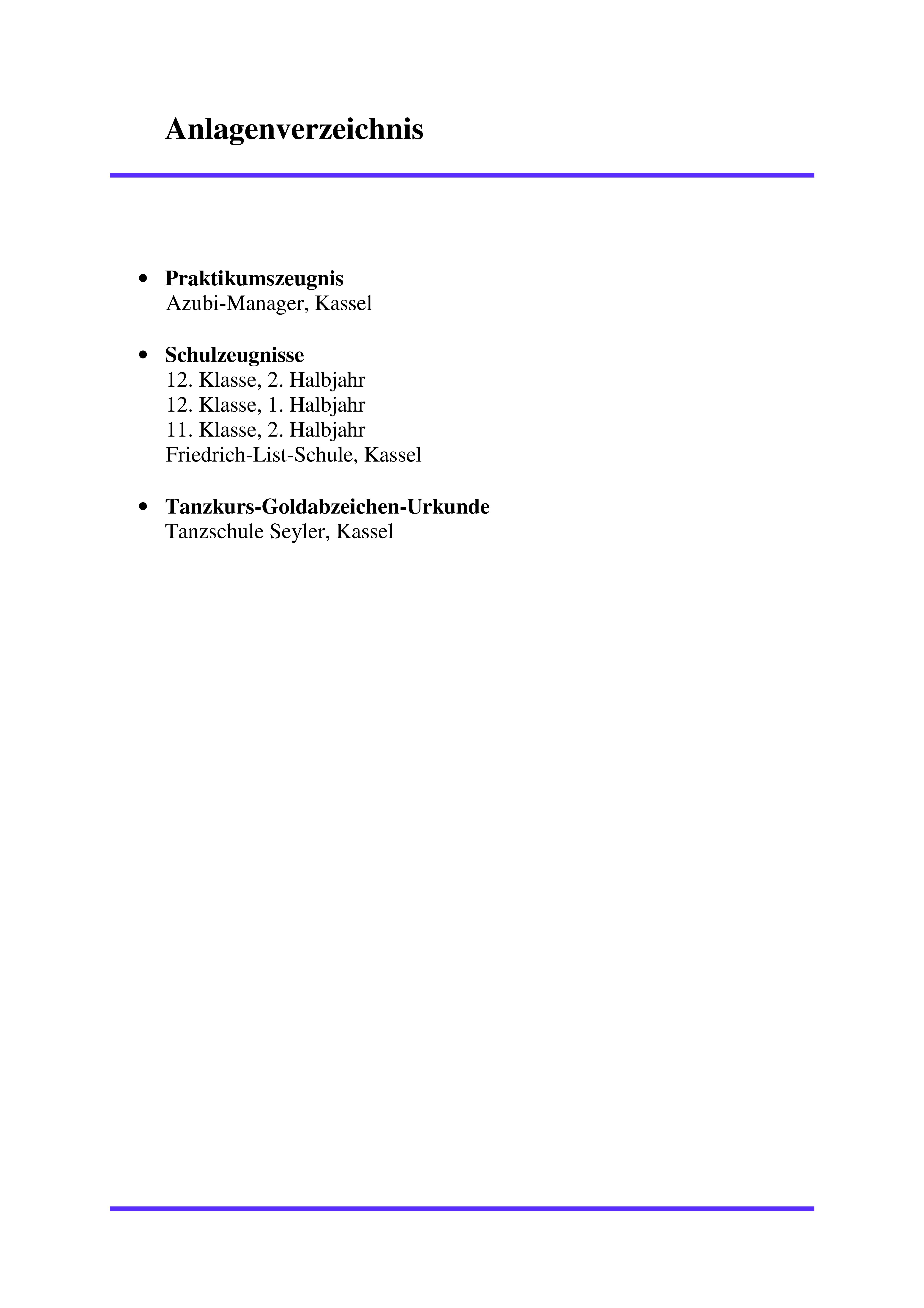 anlagenverzeichnis 001 - Bromanagement Bewerbung